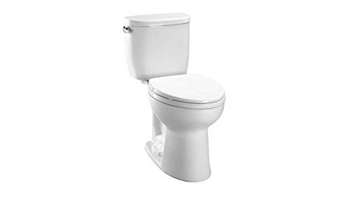 TOTO CST243EF#01 Entrada Two-Piece Round 1.28 GPF Universal Height Toilet, Cotton White