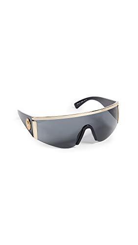 Versace Women's Shield Sunglasses, Gold/Grey, One Size