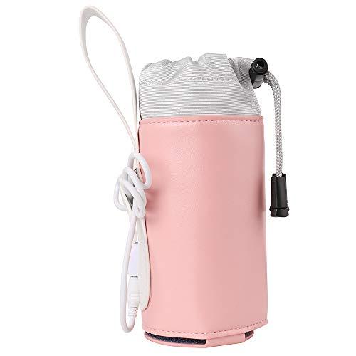 Travel Portable Baby Bottle Warmer Heater Heating Warming Bag USB Powered, Pink