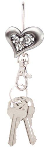 Finders Key Purse Filigree Heart Key Finder, Antiqued Silver