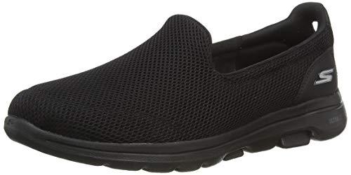 Skechers Women's GO Walk 5-15901 Sneaker, Black, 9 M US