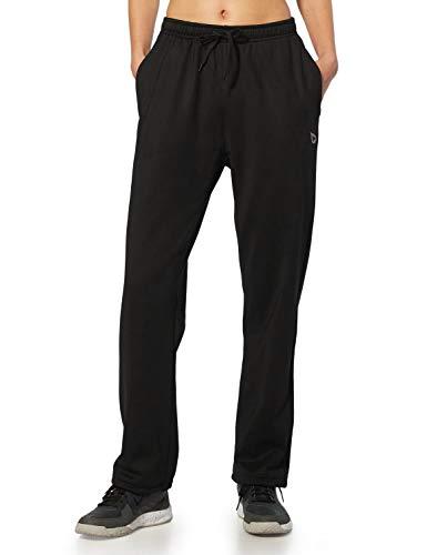 BALEAF Women's Running Thermal Fleece Pants Zipper Pocket Athletic Joggers Sweatpants Adjustable Ankle Winter Track Pants Black Size XS