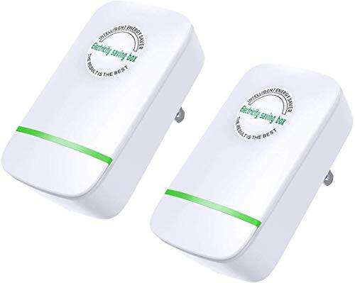 2 Pcs Electricity Saving Box 90V-250V 30000W ,Intellegent Power Save Energy Saver Device for Household Office Shop Saver Appliance
