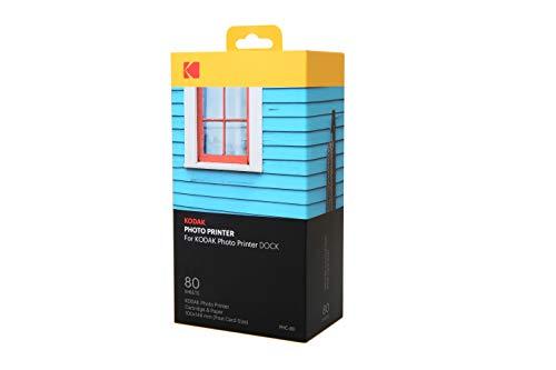 Kodak Dock & Wi-Fi Photo Printer Cartridge PHc – Cartridge Refill & Photo Paper- 80 Pack