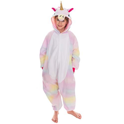 Spooktacular Creations Unisex Child Pajama Plush Onesie One Piece Unicorn Animal Costume (7-9 yr)
