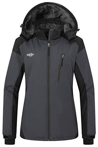 Wantdo Women's Mountain Jacket Wind Block Winter Windbreaker Hoodie Dark Grey S