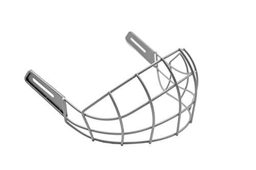 WARGATE Lower Face Shield Protector for Ice Hockey Helmet (Senior Hockey Helmet Full Face Visor & Mask Accessory) (Silver)