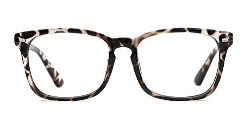 TIJN Blue Light Blocking Glasses Women Men Square Nerd Eyeglasses Frame Anti Blue Ray Computer Game Glasses