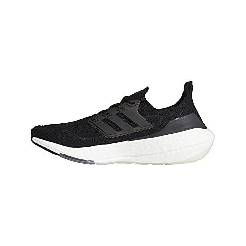 adidas Men's Ultraboost 21 Running Shoe, Black/Black/Grey, 10.5