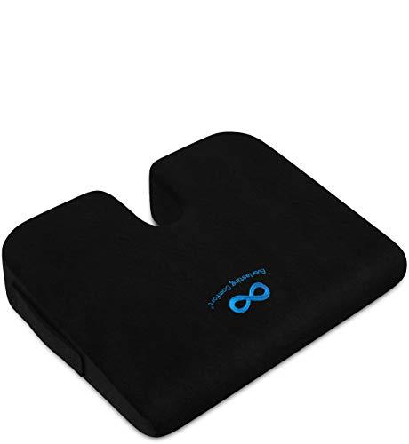 Everlasting Comfort Car Seat Cushion - Truck Seat Cushion - Wedge Cushion - Body Heat Responsive - U Cut-Out Design