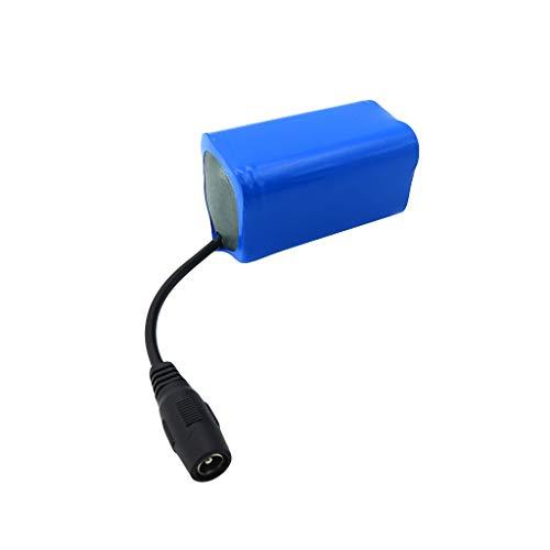 Sdoveb 7.4V 5200mAh Lipo Battery for Flytec 2011-5 1.5kg Loading Remote Control Fishing Bait Boat Battery Parts (Blue)