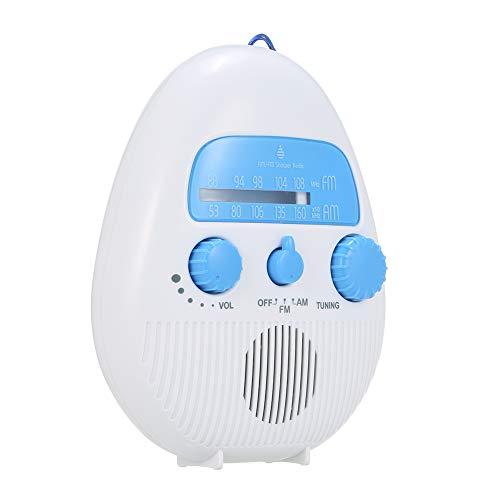 Hongwen SY-900 Portable Class 5 Waterproof Shower Radio, Outdoor Portable Mini Shower Radio Indoor FM AM Electronic Bathroom Waterproof