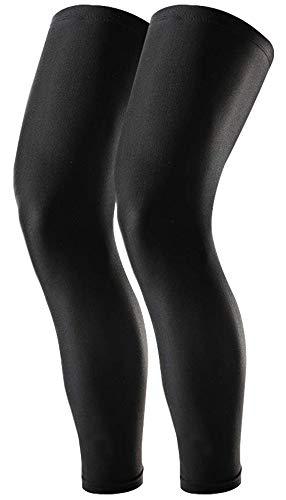 Tough Outdoors Compression Leg Sleeves - Basketball Full Length Leg Sleeves for Men, Women, Youth - UPF 50 UV Protection