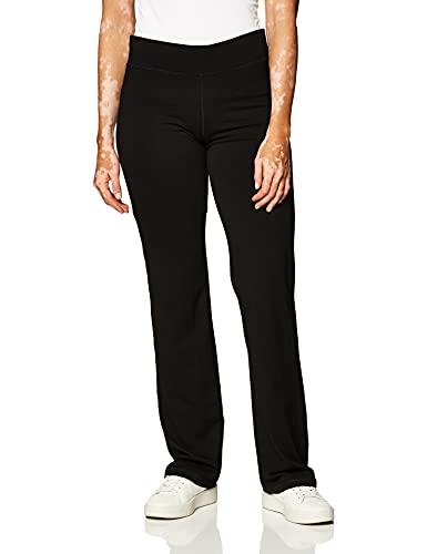 No Nonsense Women's Sport Yoga Pant, Black, Large