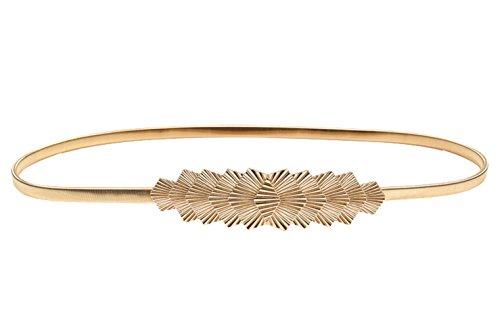 E-Clover Womens Fashion Metal Stretch Waist Skinny Belt Waistband (Style7)