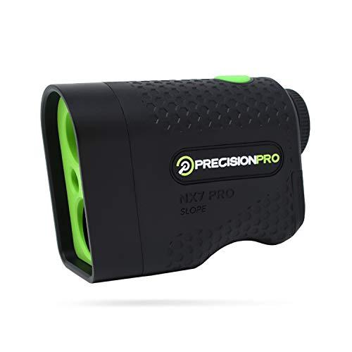 Precision Pro NX7 Pro Golf Rangefinder, Laser Golf Rangefinder with Slope, 600 Yard Range, Flack Lock with Pulse Vibration, 6X Magnification, Golf Range Finder Case, Lifetime Batteries