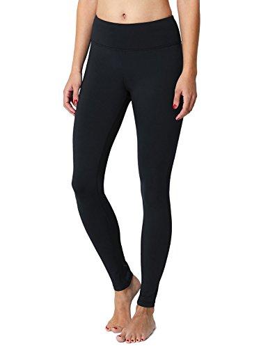 BALEAF Women's Fleece Lined Leggings Yoga Pants Inner Pocket Black Size L