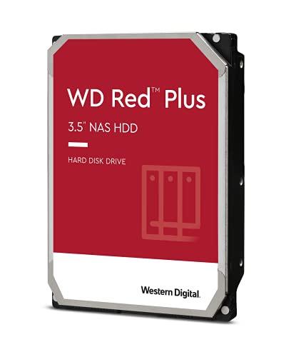 Western Digital 12TB WD Red Plus NAS Internal Hard Drive HDD - 5400 RPM, SATA 6 Gb/s, CMR, 256 MB Cache, 3.5' - WD120EFAX