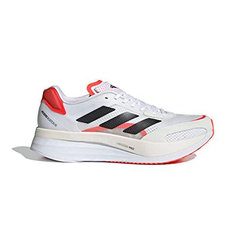 adidas Adizero Boston 10 Running Shoe - Men's FTW White/Core Black/Solar Red, 11.0
