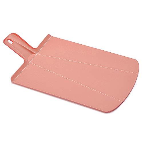 Joseph Joseph 60155 Chop2Pot Foldable Plastic Cutting Board 19 x 10.75 Non-Slip Feet 4-inch Handle Dishwasher Safe, Large, Soft Pink