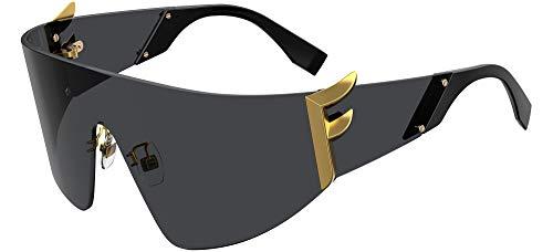 Fendi FF0382/S 807 Black FF0382/S Visor Sunglasses Lens Category 3 Size 73mm
