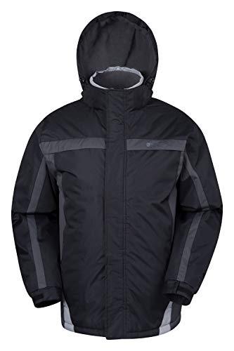 Mountain Warehouse Dusk Mens Ski Jacket - Water Resistant Winter Coat Black XX-Small