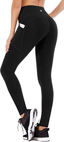 Ewedoos Yoga Pants for Women with Pockets High Waisted Leggings for Women Workout Leggings with Pockets Womens Leggings (Ew330 Black, Medium)