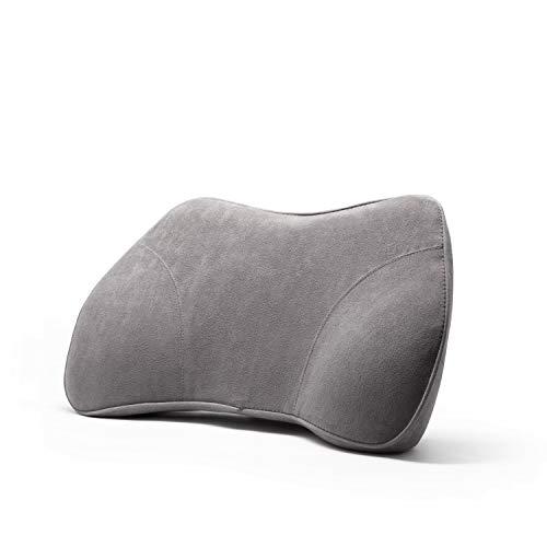 WENNEBIRD Model B Lumbar Support Pillow, Back Cushion, Memory Foam and Ergonomic Design, for Office/Computer Chair, Car Seat, etc - Grey