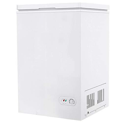 Northair Chest Freezer 3.5 Cubic Feet with Removable Basket Free-Standing Top Open Door Freezers -4℉ to 6.8℉ Adjustable Temperature/Front Defrost Water Drain/Energy-saving/UL Certified