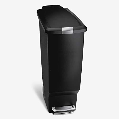 simplehuman Slim Kitchen Step trash can, 40 Liter, Black