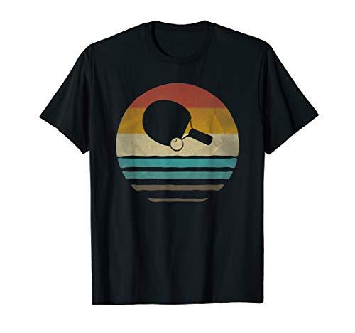 Table Tennis Shirt Retro Vintage Silhouette Distressed Gift