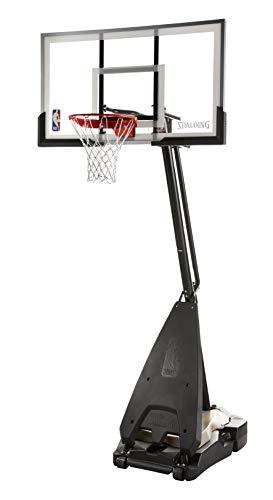 Spalding unisex-adult NBA Hybrid Portable Basketball System - 60' Acrylic Backboard, Black, 60-Inch
