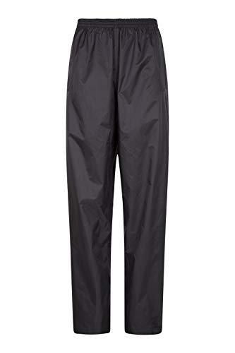 Mountain Warehouse Pakka Womens Waterproof Rain Over Pants - Packaway Bag Black 12