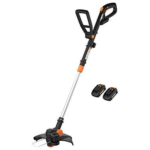 WORX WG170 GT Revolution 20V 12' Grass Trimmer/Edger/Mini-Mower 2 Batteries & Charger Included, Black and Orange