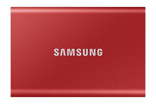 Samsung Portable SSD T7 2TB USB 3.2 External Solid State Drive Red (MU-PC2T0R)