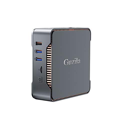 GUZILA Mini PC,Intel Celeron J4125 Processor(up to 2.7GHz) Windows 10 Pro Mini Desktop Computer with 8GB DDR4/120GB ROM,Support Triple Display,Gigabit Ethernet,Dual Band Wi-Fi,Bluetooth 4.2,4K HD
