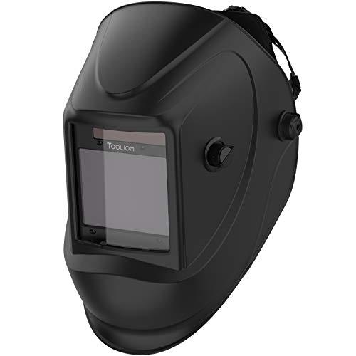 TOOLIOM Welding Helmet, True Color Auto Darkening 1/1/1/2 Large Viewing 3.94'x 3.27' Welder Mask Hood with Weld/Grind/Cut Mode for TIG MIG/MAG MMA Plasma Grinding