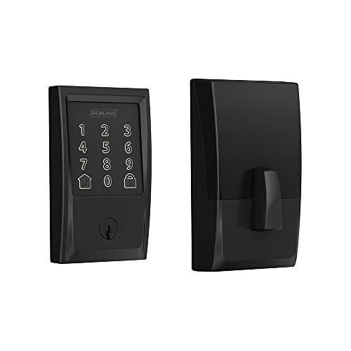 Schlage BE489WB CEN 622 Encode Deadbolt Smart Lock | WiFi Touchscreen Keypad, Matte Black