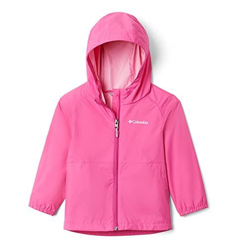 Columbia Girls' Big Switchback Ii Waterproof Jacket, Pink Ice, Medium