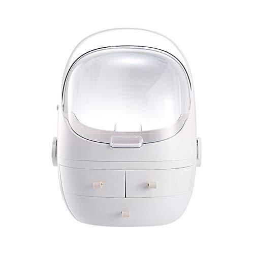 Cosmetic Storage, Homed Makeup Organizer Makeup Storage Holder Display Box with Dustproof Waterproof Lid, Handle, Drawers, Jewelry Vanity Organizer, Skin Care Products Rack,Bathroom Countertop