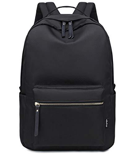 Abshoo Lightweight Classic Nylon Daypack Waterproof Womens School Backpack For Teen Girls Bookbag (Black)
