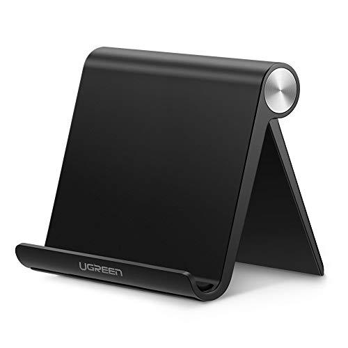 UGREEN Tablet Stand Holder Adjustable Compatible for iPad 10.2 2019 iPad Pro 11 Inch 2020 iPad 9.7 2018 iPad Mini 5 4 3 2 iPad Air Nintendo Switch iPhone 12 Pro Max 11 XS XR X 8 Plus 7 6 Black