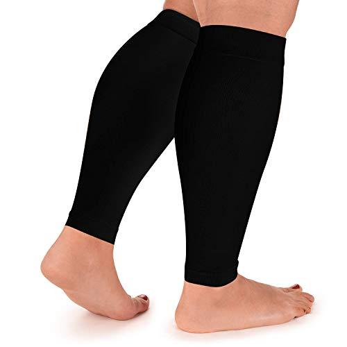 Calf Compression Sleeve for Men and Women - Shin Splint Sleeves for Leg, Calves – Running, Cycling