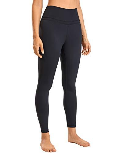 CRZ YOGA Women's Naked Feeling I High Waist Tight Yoga Pants Workout Leggings-25 Inches Black 25'' - R009 Medium