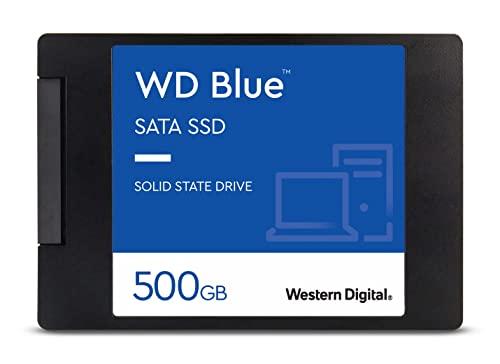 Western Digital 500GB WD Blue 3D NAND Internal PC SSD - SATA III 6 Gb/s, 2.5'/7mm, Up to 560 MB/s - WDS500G2B0A