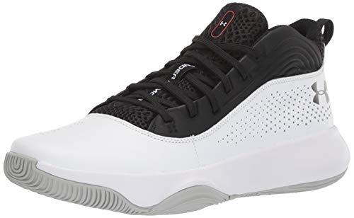 Under Armour Men's Lockdown 4 Basketball Shoe, Black (001)/White, 7.5