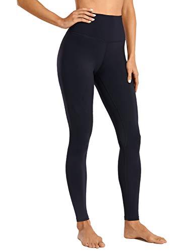 CRZ YOGA Women's Naked Feeling I Full-Length High Waisted Yoga Pants Workout Leggings - 28 Inches Black-R444A Small