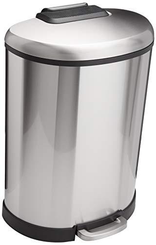AmazonBasics D-Shaped Soft-Close Trash Can - 50L