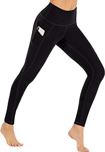 Ewedoos Fleece Lined Leggings with Pockets for Women- Winter Leggings for Women High Waisted Thermal Workout Leggings (New Black, Small)