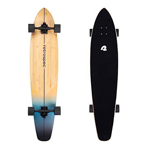 Retrospec Zed Longboard Skateboard Complete Cruiser   Bamboo & Canadian Maple Wood Cruiser w/Reverse Kingpin Trucks for Commuting, Cruising, Carving & Downhill Riding